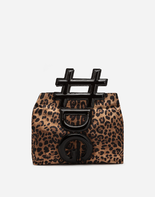 Dolce & Gabbana Instabag In Printed Nylon And Patent Leather In Leopard
