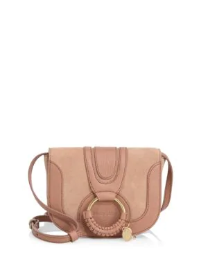 See By ChloÉ Hana Mini Suede & Leather Crossbody Bag In Nougat