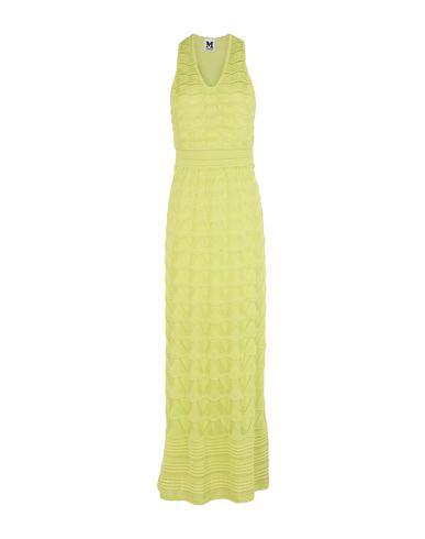 M Missoni Long Dress In Acid Green