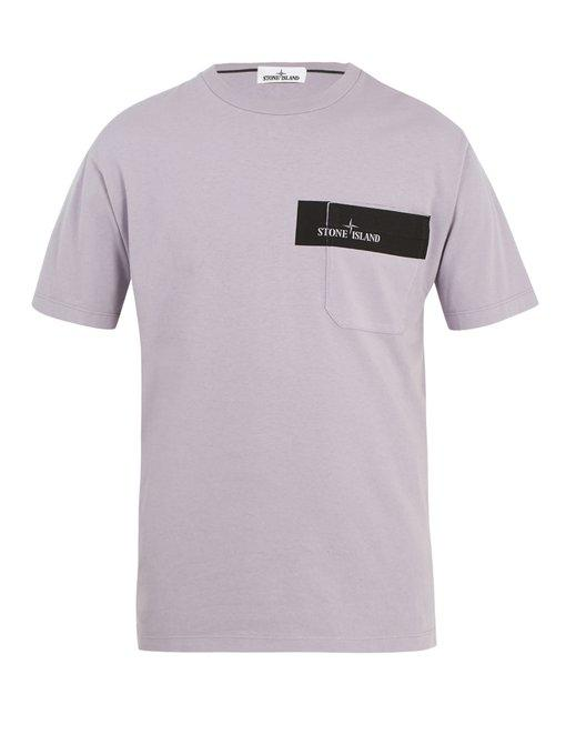 221c5054 Stone Island Logo-Print Cotton-Jersey T-Shirt In Purple | ModeSens