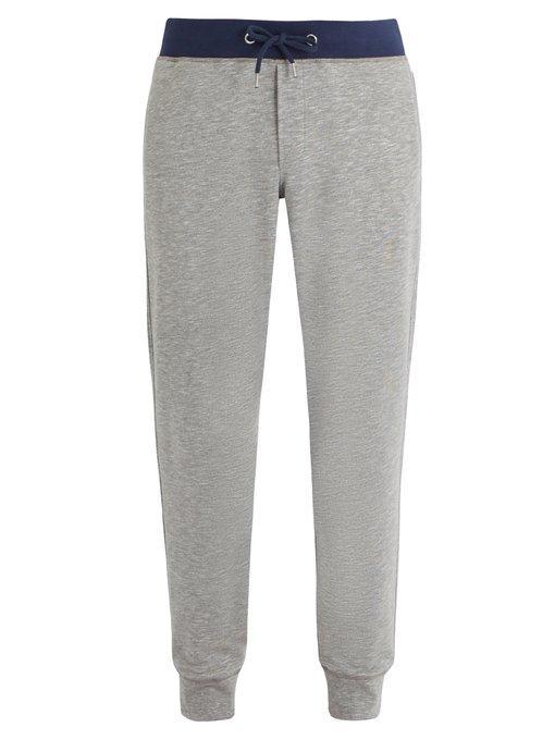 Orlebar Brown Cavan Cotton-blend Jersey Track Pants In Grey
