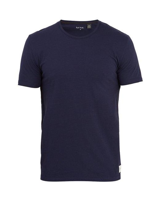 Paul Smith Crew-neck Cotton-jersey T-shirt In Navy