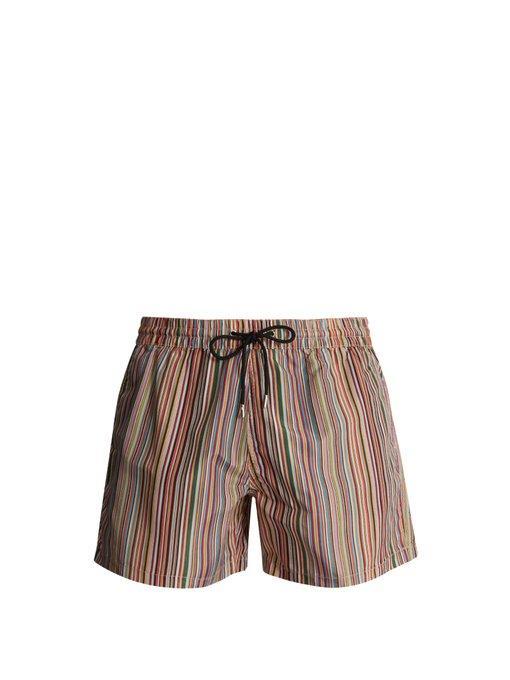 Paul Smith Stripe-print Swim Shorts In Multi