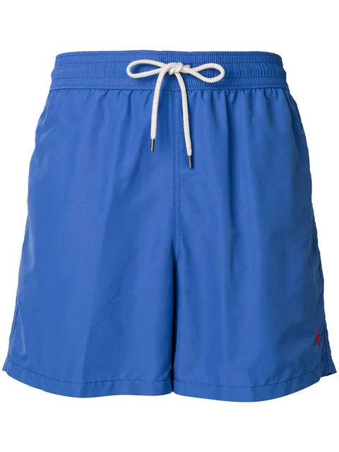 Polo Ralph Lauren Embroidered Logo Swim Shorts In Blue