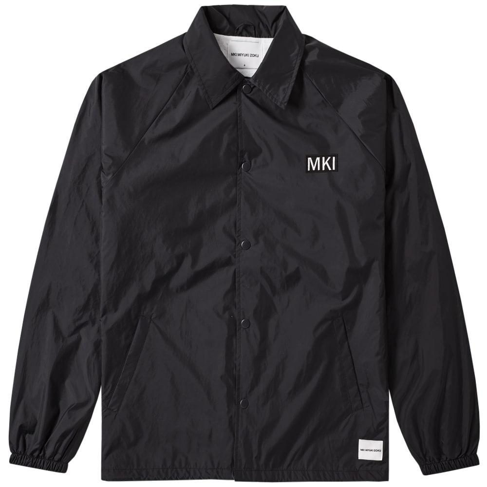 Mki Patch Logo Coach Jacket In Black