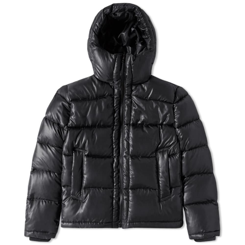 Mki Hooded Down Jacket In Black