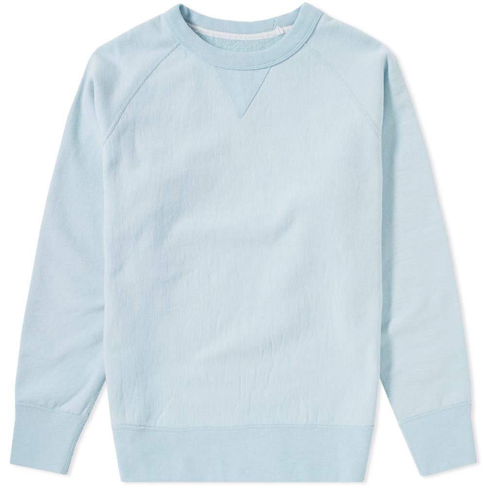 Rag & Bone Racer Crew Sweat In Blue