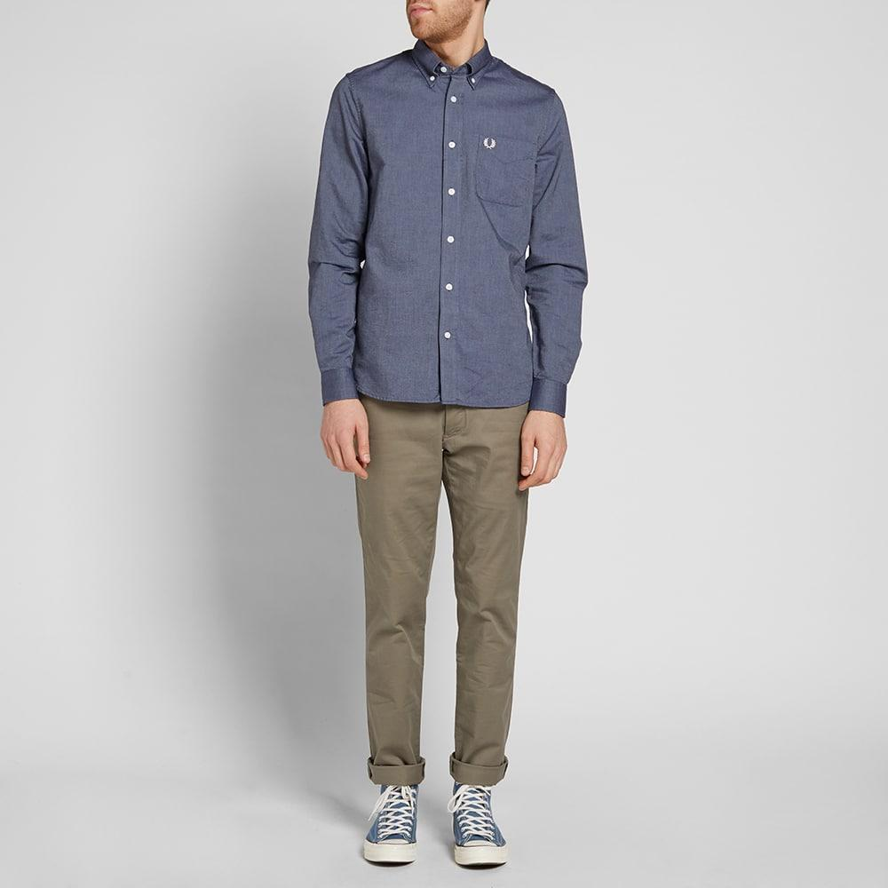 Fred Perry Classic Oxford Shirt In Blue