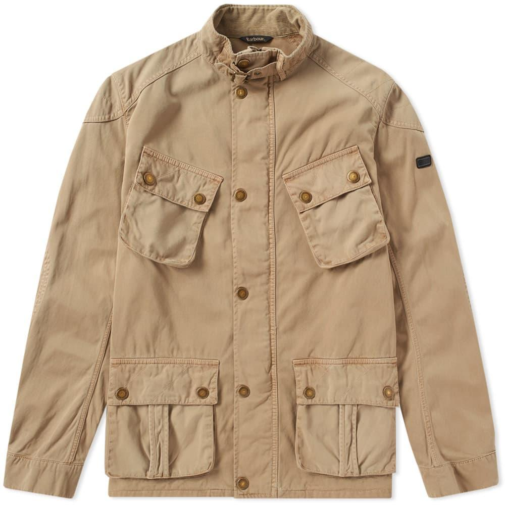 Barbour International Rumble Casual Jacket In Neutrals