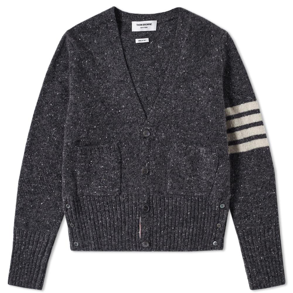 Thom Browne Classic Donegal Cardigan In Grey
