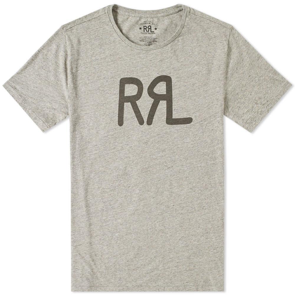 Rrl Logo Tee In Grey