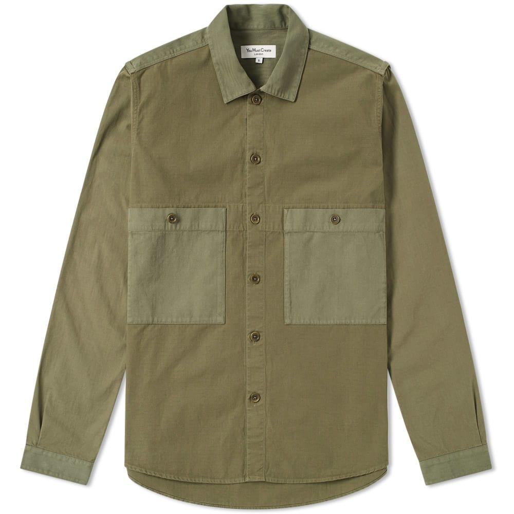 Ymc You Must Create Ymc Doc Savage Shirt Jacket In Green