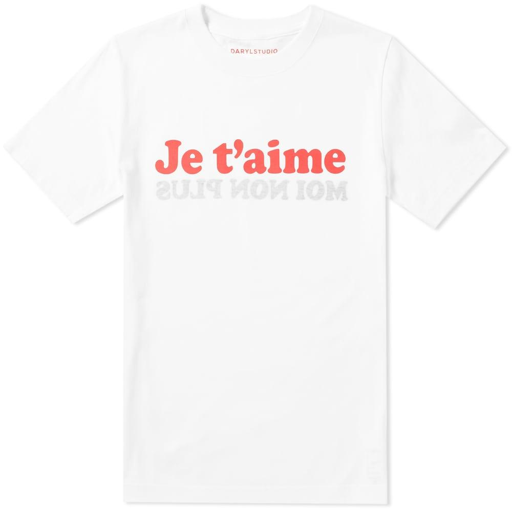 Darylstudio Je T'aime Tee  End. Exclusive In White