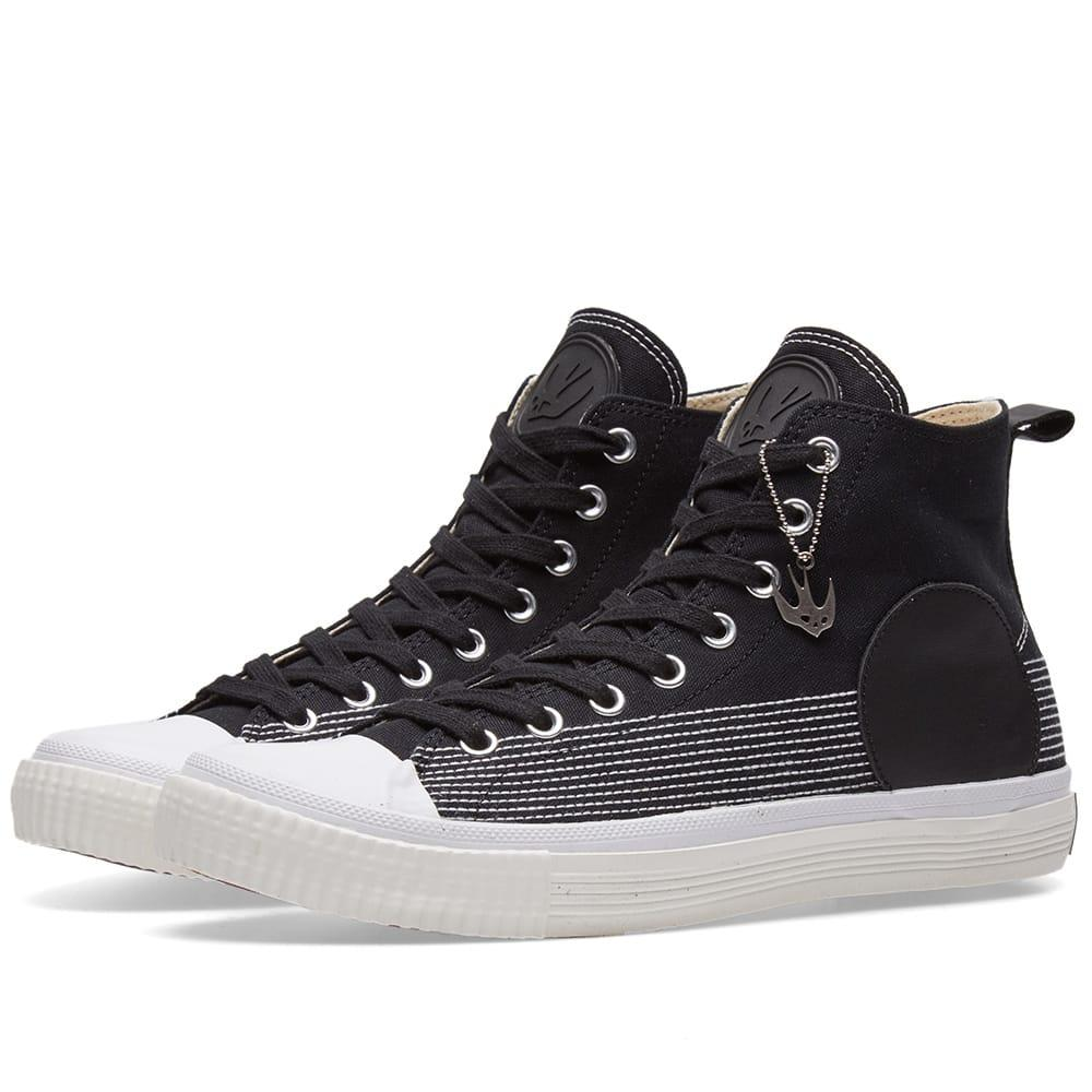 Mcq By Alexander Mcqueen Canvas High Plimsoll In Black