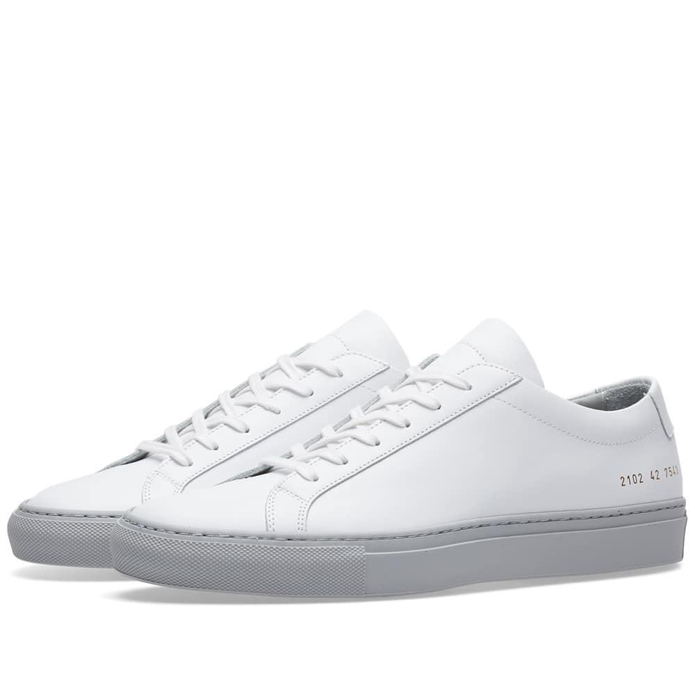 Common Projects Achilles Low Coloured Sole In White