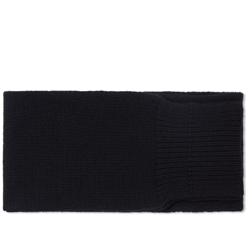 Mhl By Margaret Howell Chunky Scarf In Black