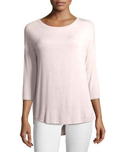 Majestic Soft Touch Boat-neck Top In Pink