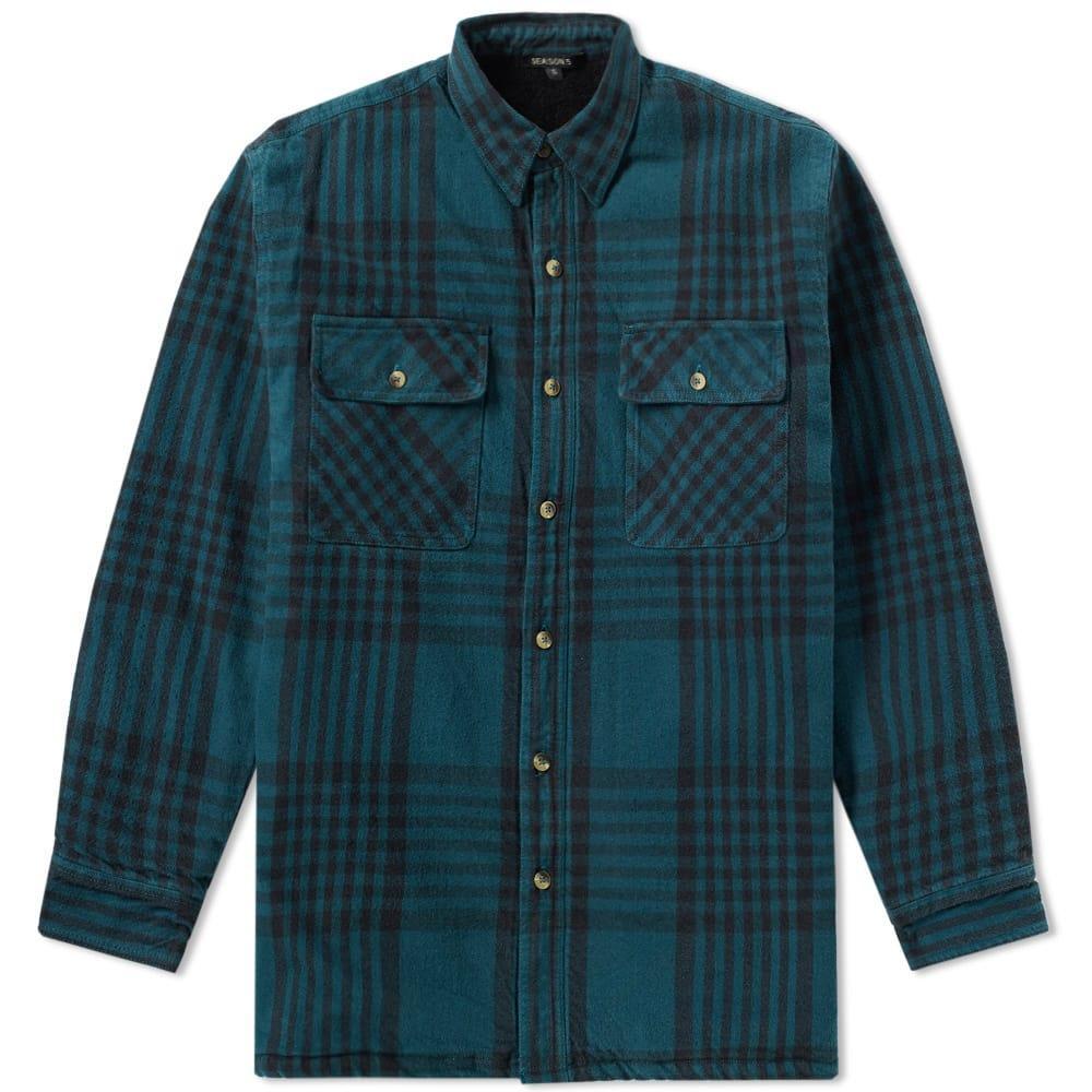 Yeezy Season 5 Classic Flannel Shirt In Green