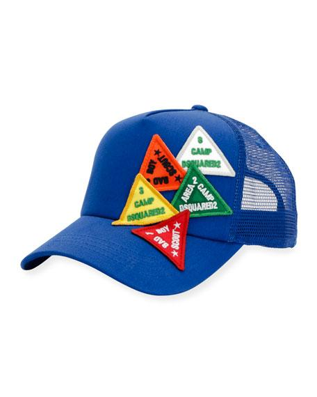 Dsquared2 Baseball Hat W/patches In Blue