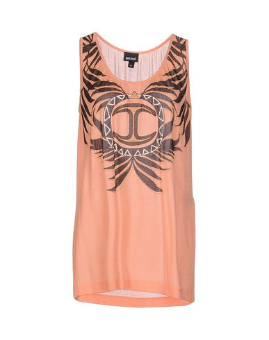 Just Cavalli Tank Tops In Salmon Pink
