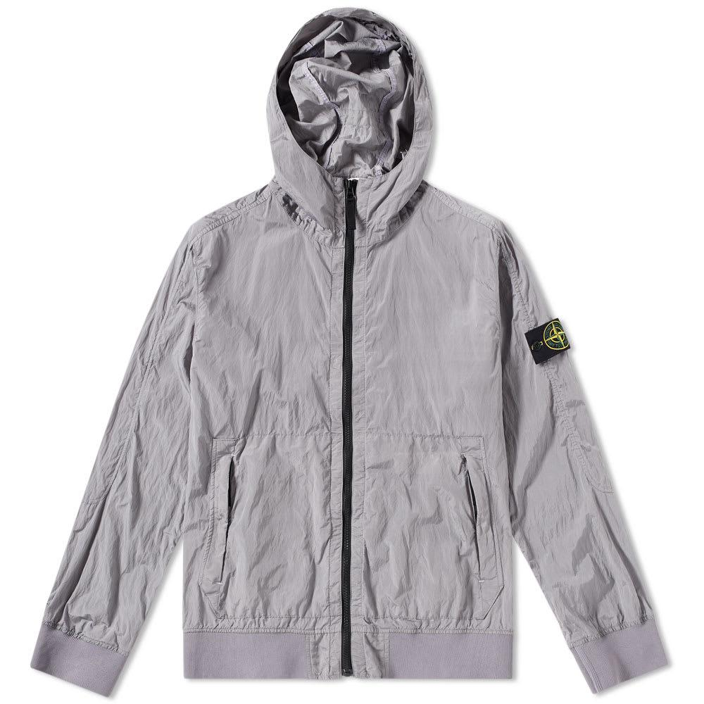 Stone Island Nylon Metal Watro Hooded Jacket In Purple