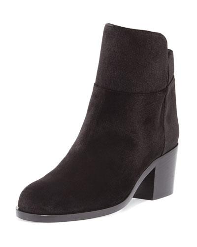 Laurence Dacade Velvet Low Equestrian Boot, Black