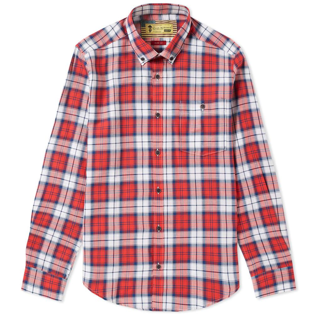 Barbour International Steve Mcqueen Patrol Shirt In Red