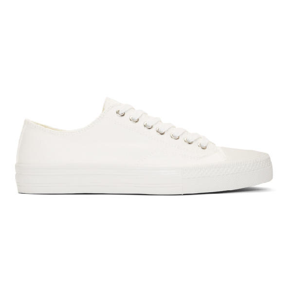 Junya Watanabe Off-white Twill Sneakers In 3 Off Wht