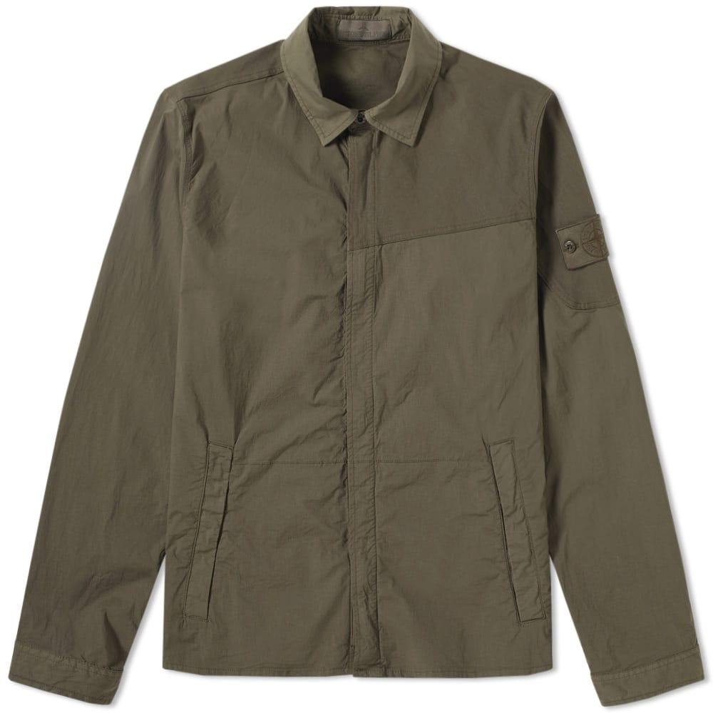 Stone Island Ghost Piece Overshirt In Green