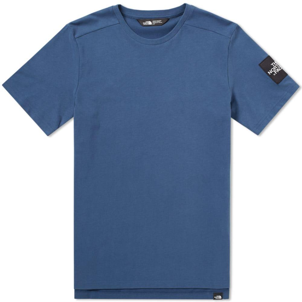 The North Face Fine 2 Tee In Blue