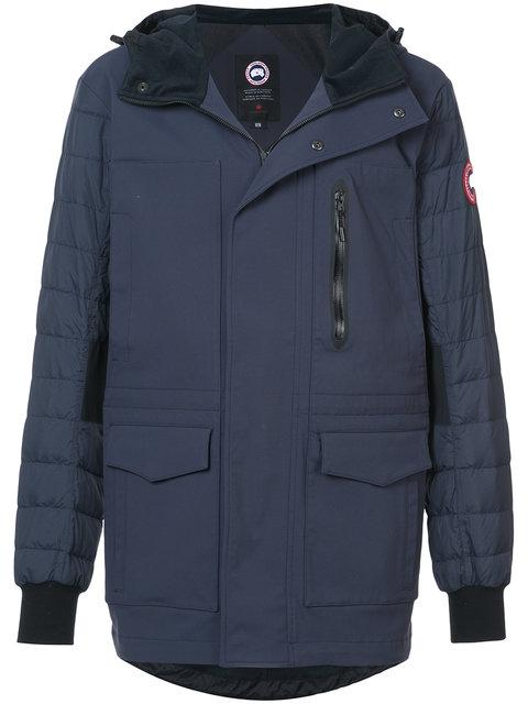 Canada Goose Hooded Zipped Coat - Blue