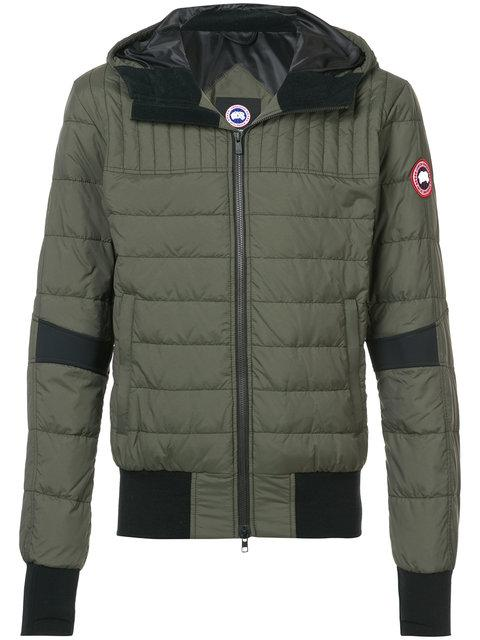 Canada Goose Padded Hooded Jackets - Green