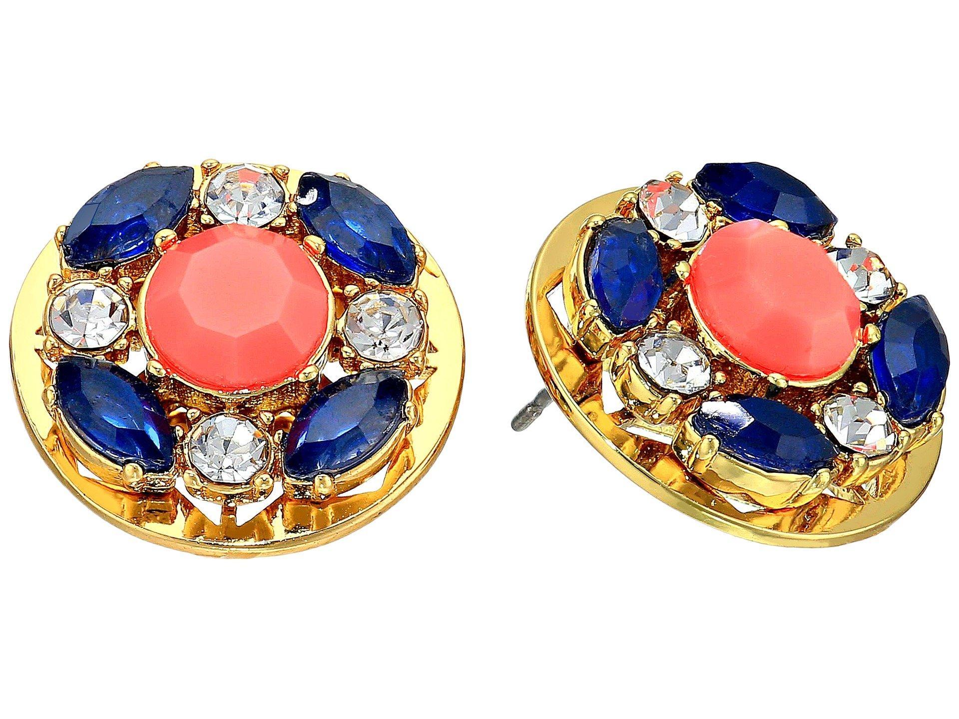 Kate Spade Jeweled Tile Studs Earrings In Multi
