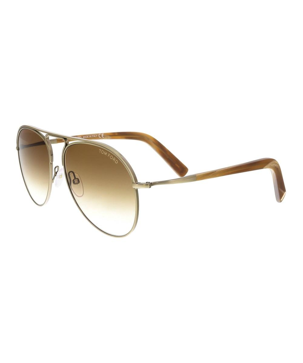 Tom Ford Ft0448/s 33f Cody Bronze/brown Aviator Sunglasses In Gold