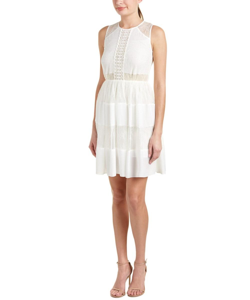 Sandro Rosaria A-line Dress In White