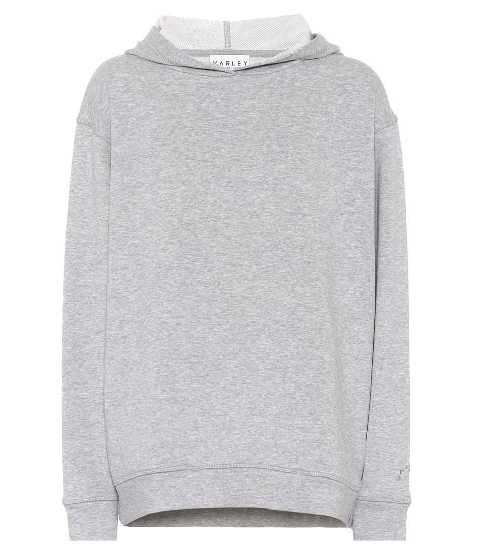 Varley Valley Cotton-blend Hoodie In Grey