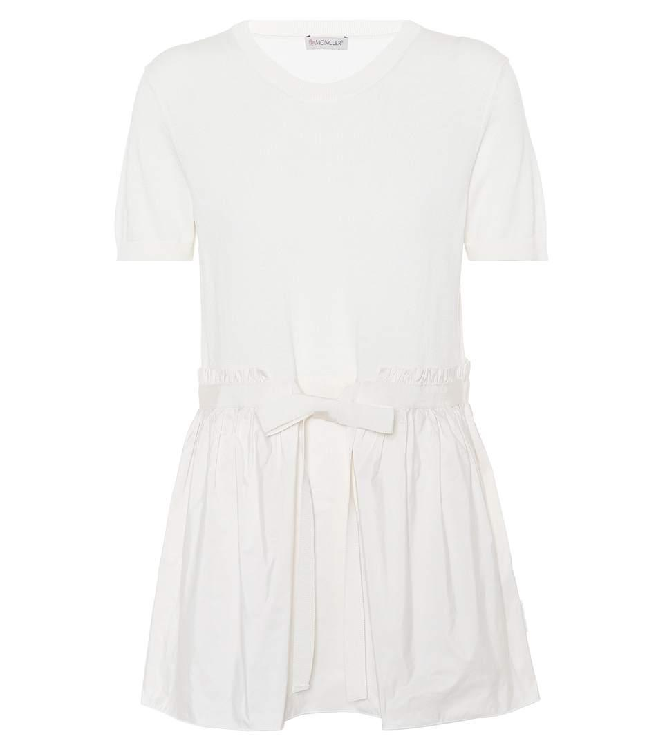 Moncler Cotton-blend Top In White