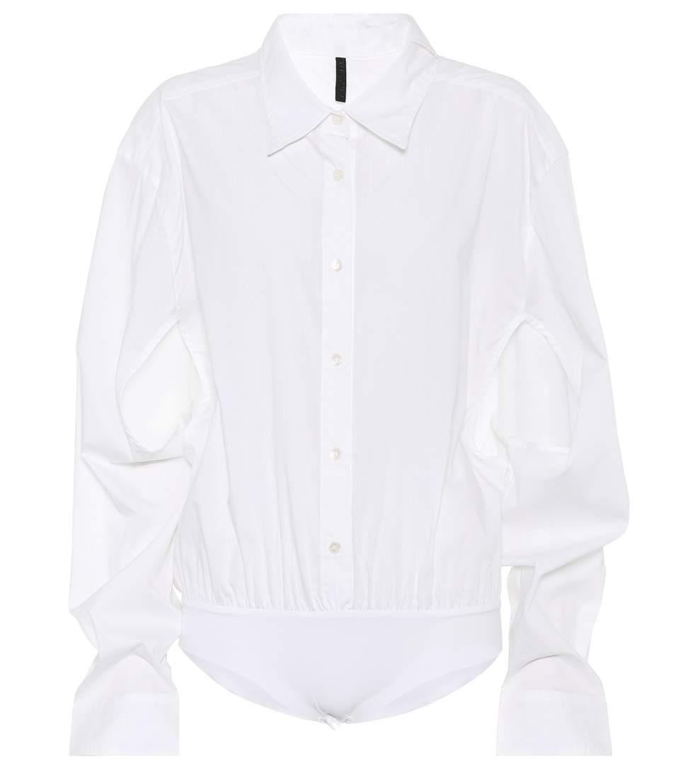 Ben Taverniti Unravel Project Cotton And Silk Top In White