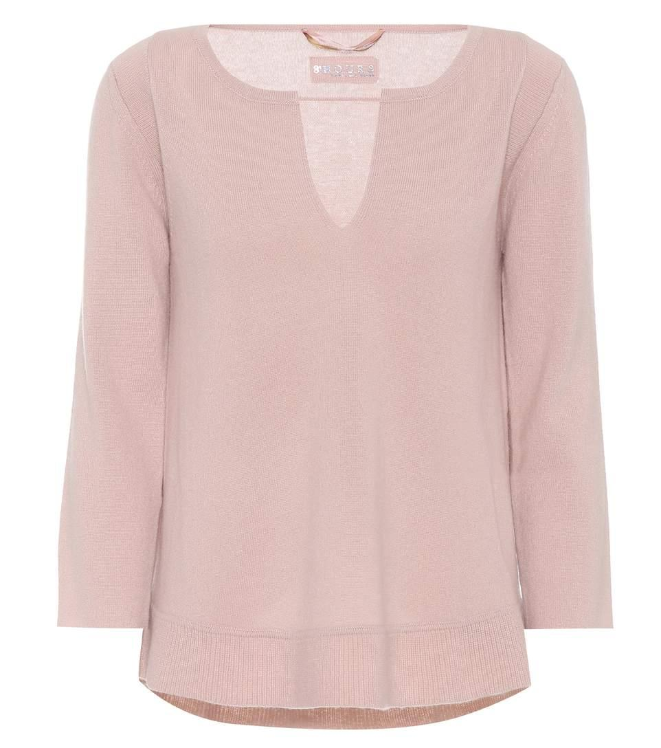 81 Hours Carmelita Cashmere Sweater In Pink