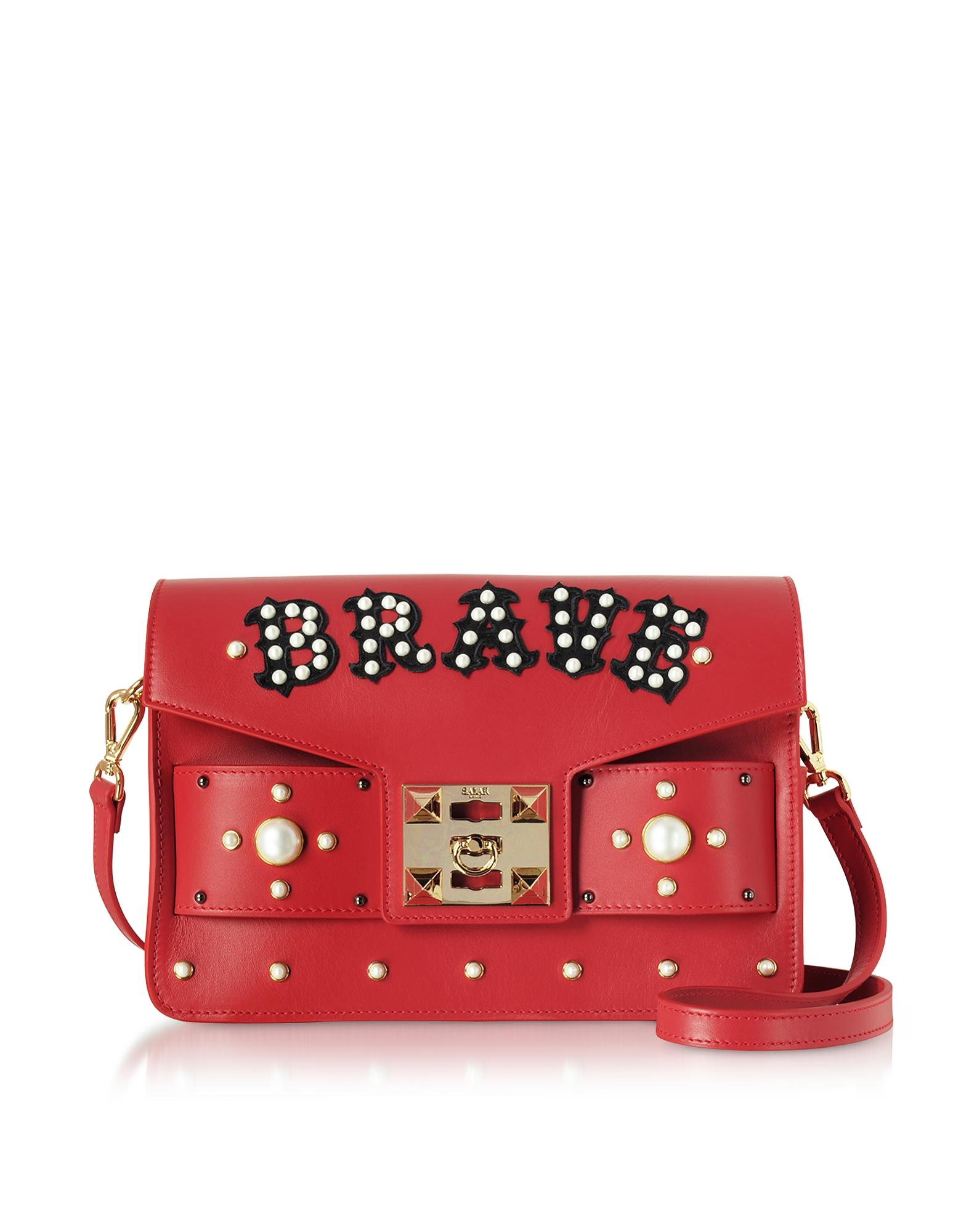 Salar Ana Brave Leather Shoulder Bag