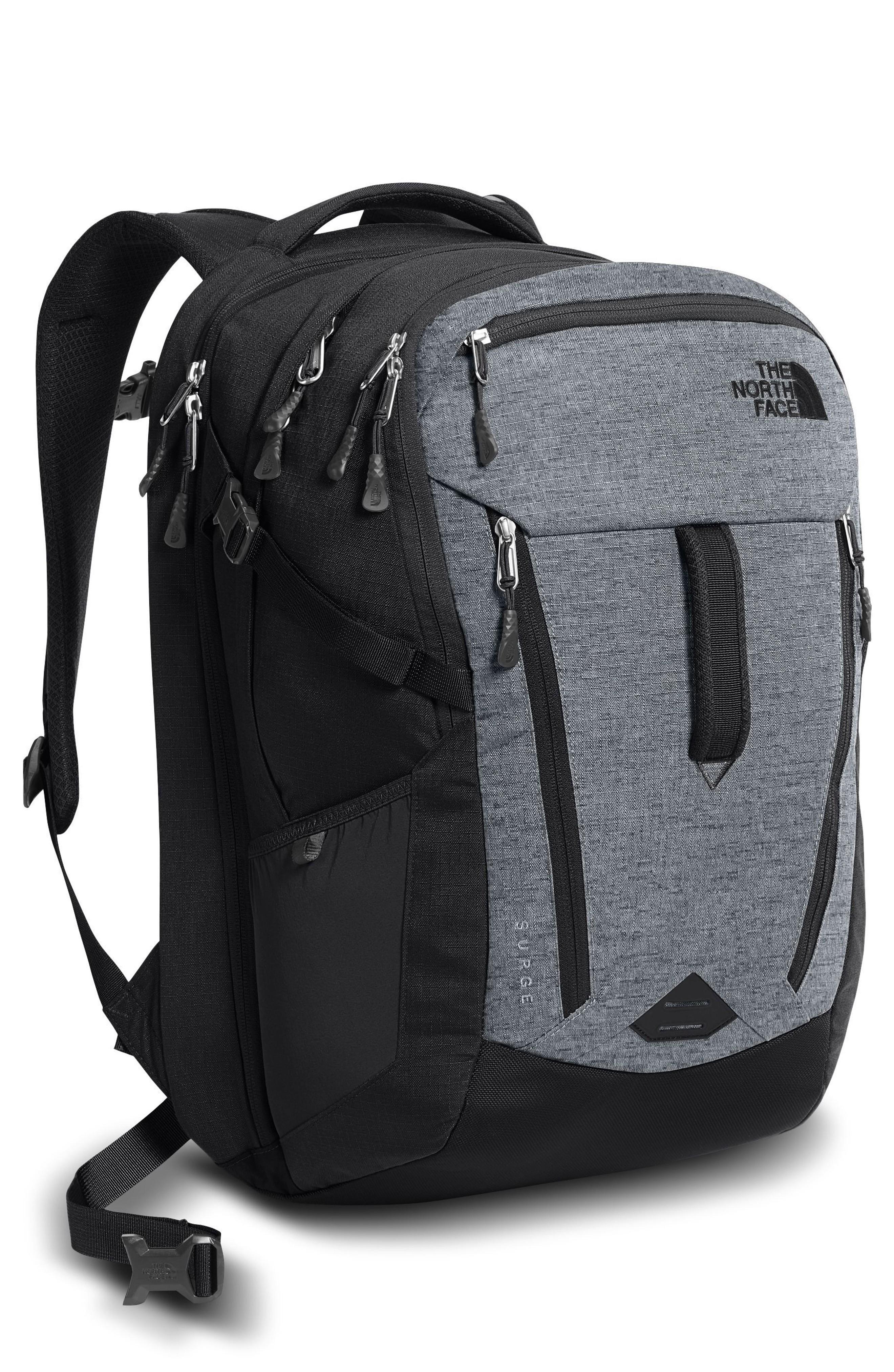 The North Face 'surge' Backpack - Grey In Mid Grey/ Asphalt Grey Melange