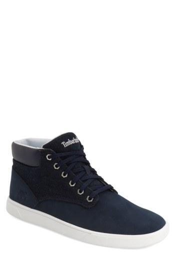 Timberland 'groveton' Sneaker In Blue Washed Denim