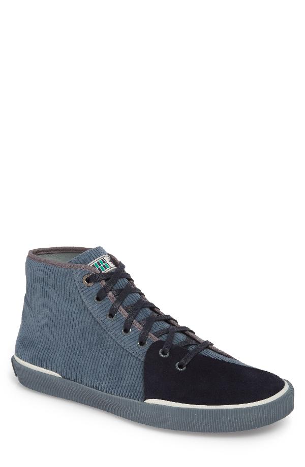 Lanvin Hight-top Sneakers In Elephant Grey Suede