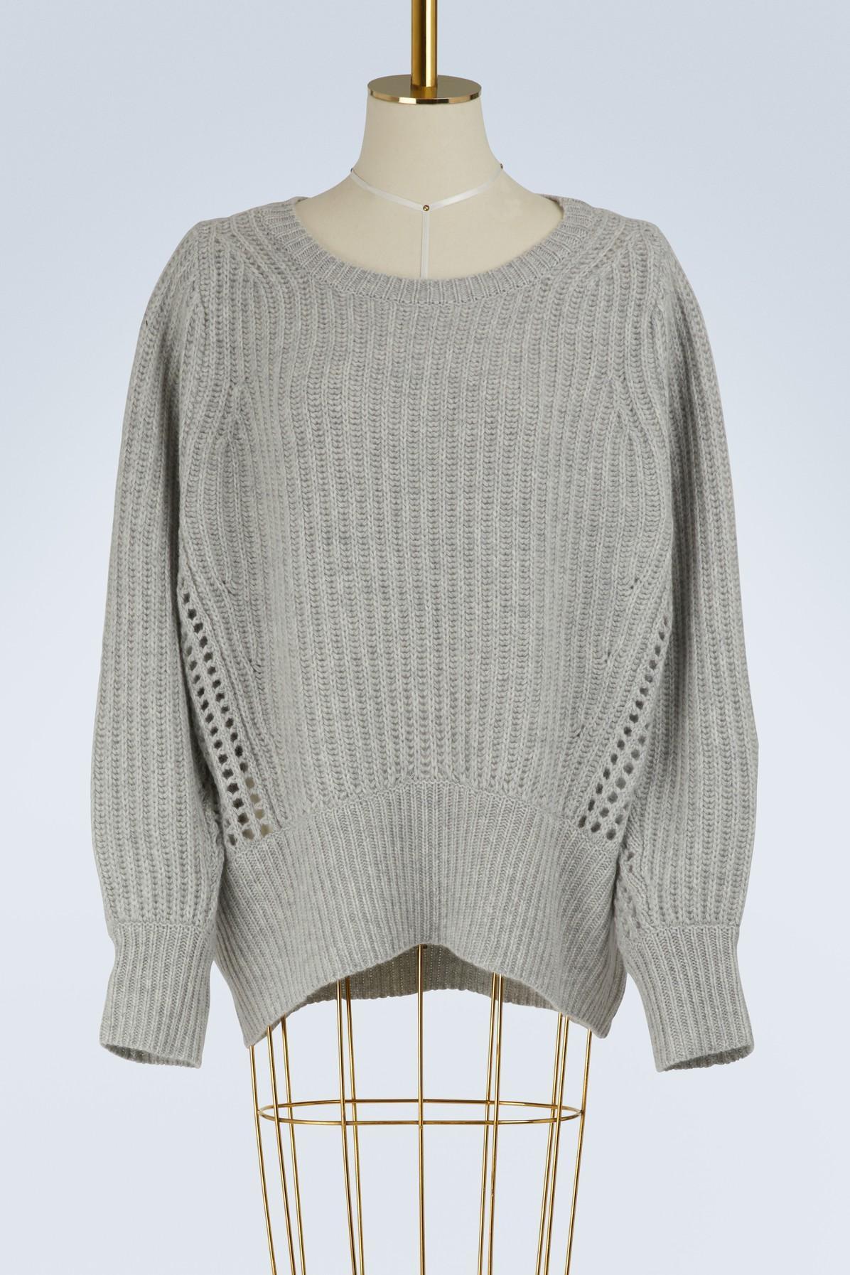 Rag & Bone Athena Crew Neck Sweater In Lt Grey