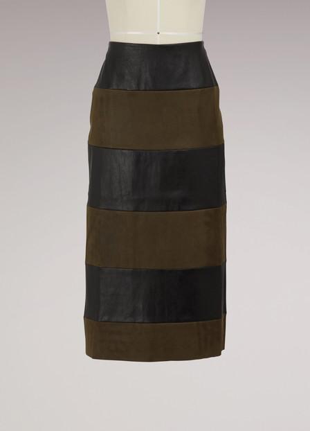 Stouls Long Skirt In Black Kaki