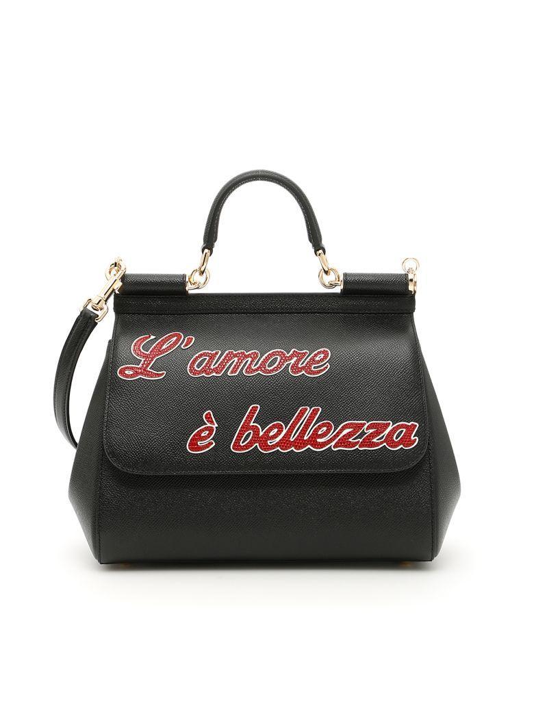 Dolce & Gabbana Medium Sicily Bag In Neronero