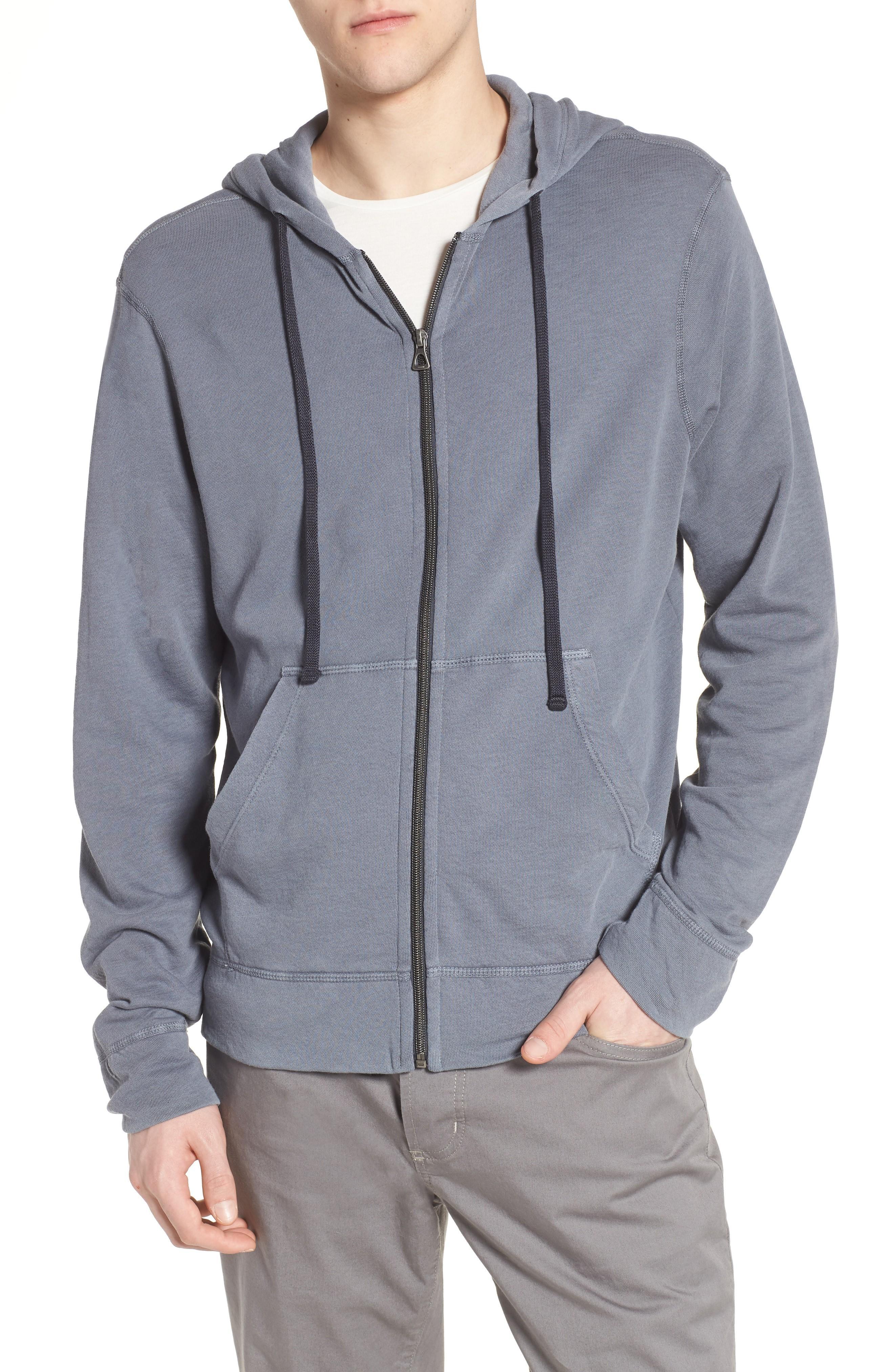 James Perse Classic Zip Hoodie In North Pigment