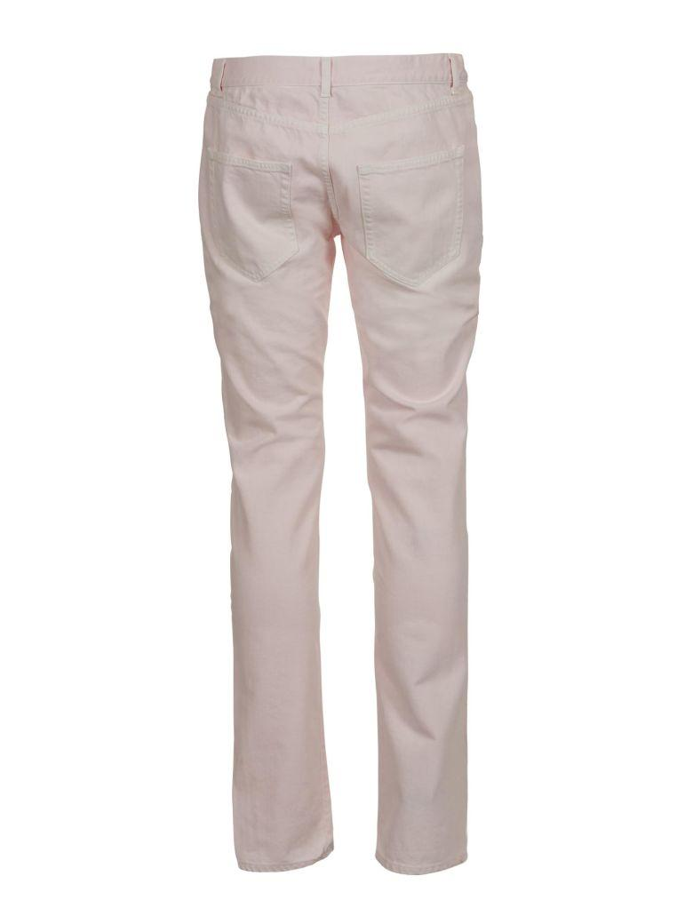 Saint Laurent Low Rise Skinny Jeans In Rosa