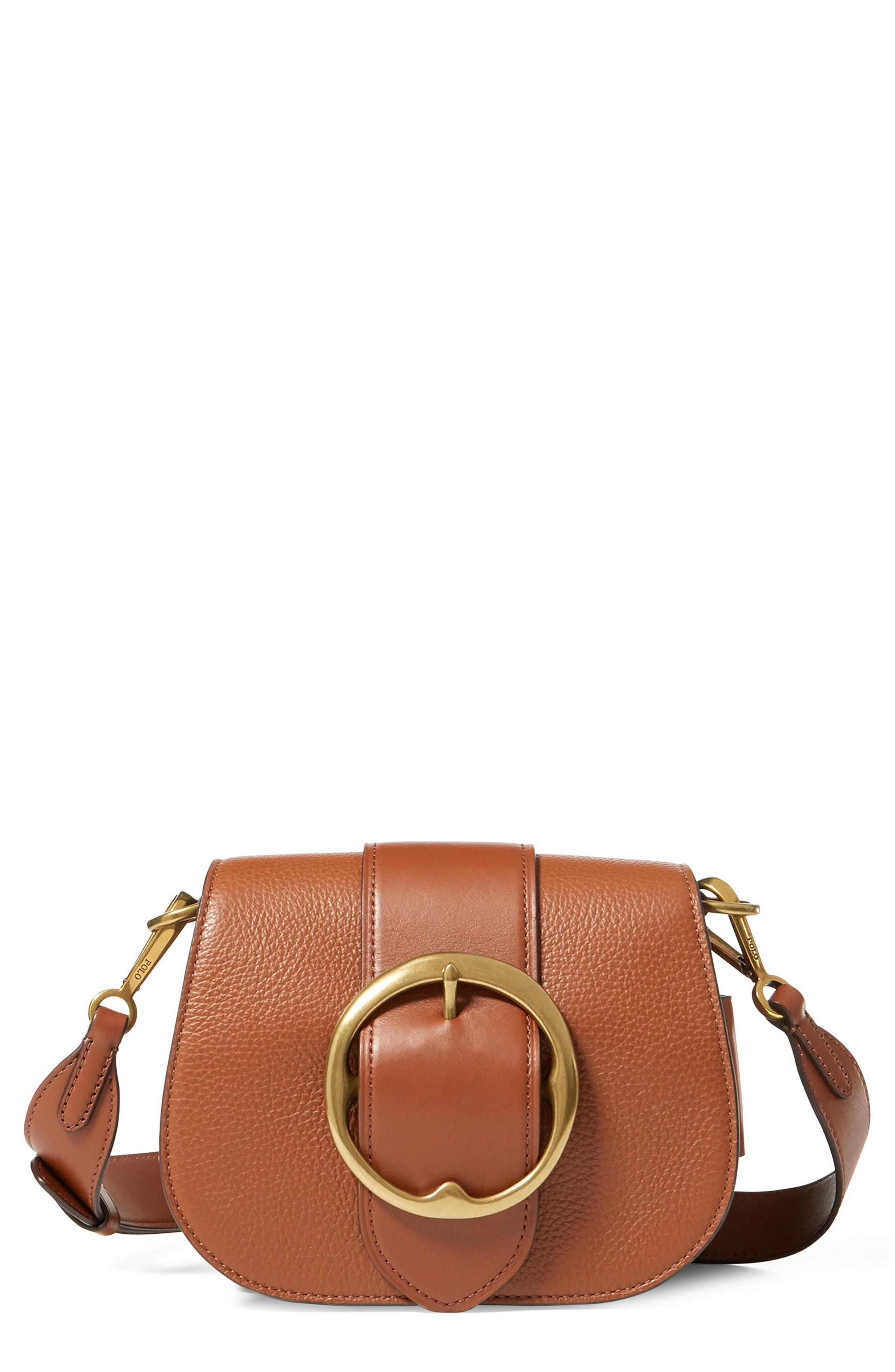 6ffa2251e6 An antique buckle unearthed from Ralph Lauren s archives inspired this  vintage-meets-modern bag crafted from supple Italian leather in a classic  saddle ...