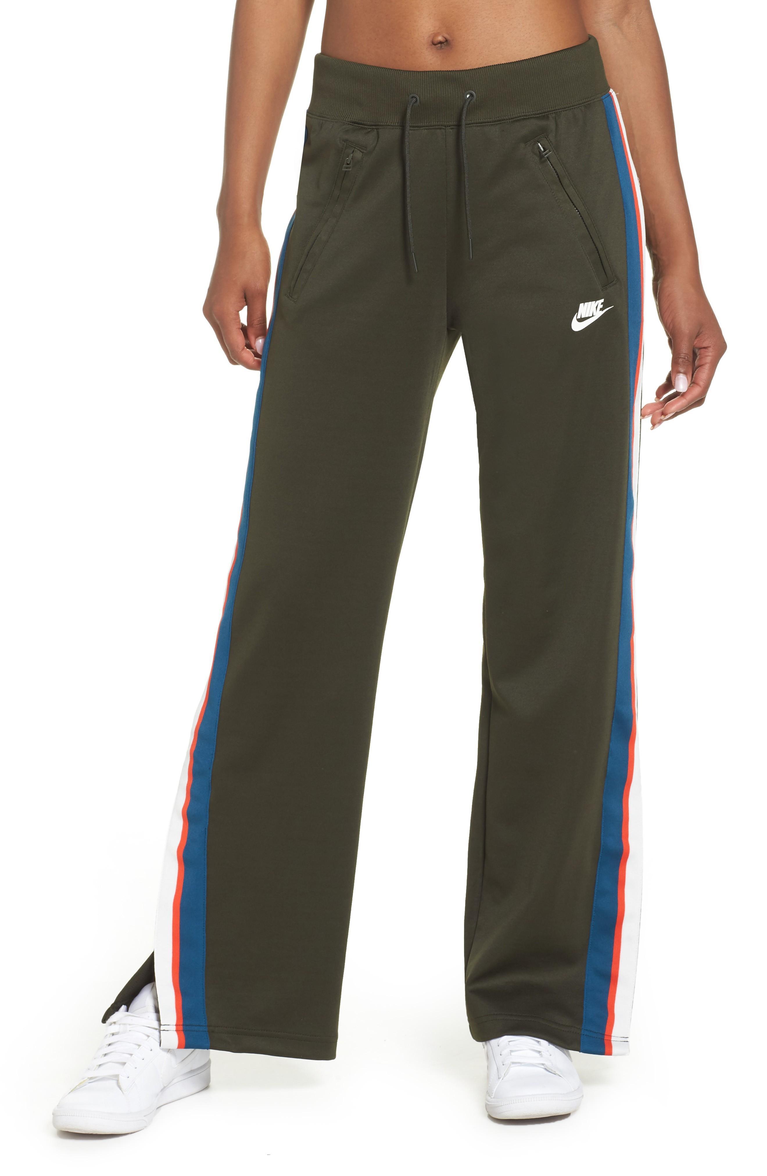 Nike Drawstring Track Pants In Sequoia/sail